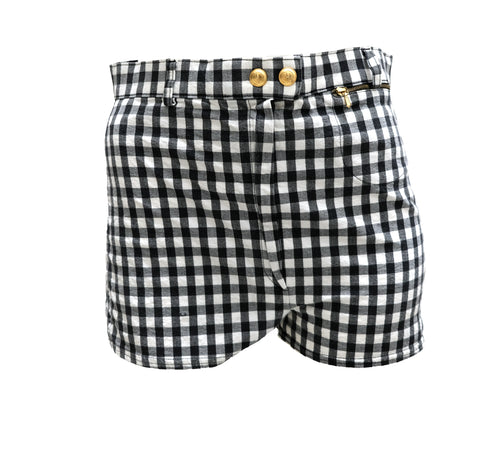 Gucci Vintage Gingham Hot Pants, UK10