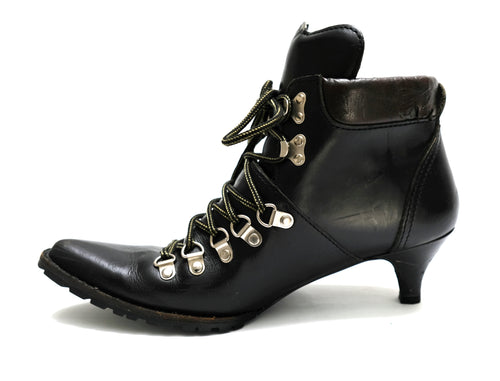 Junya Watanabe Comme des Garcons Black Heeled Hiking Boots, EU39