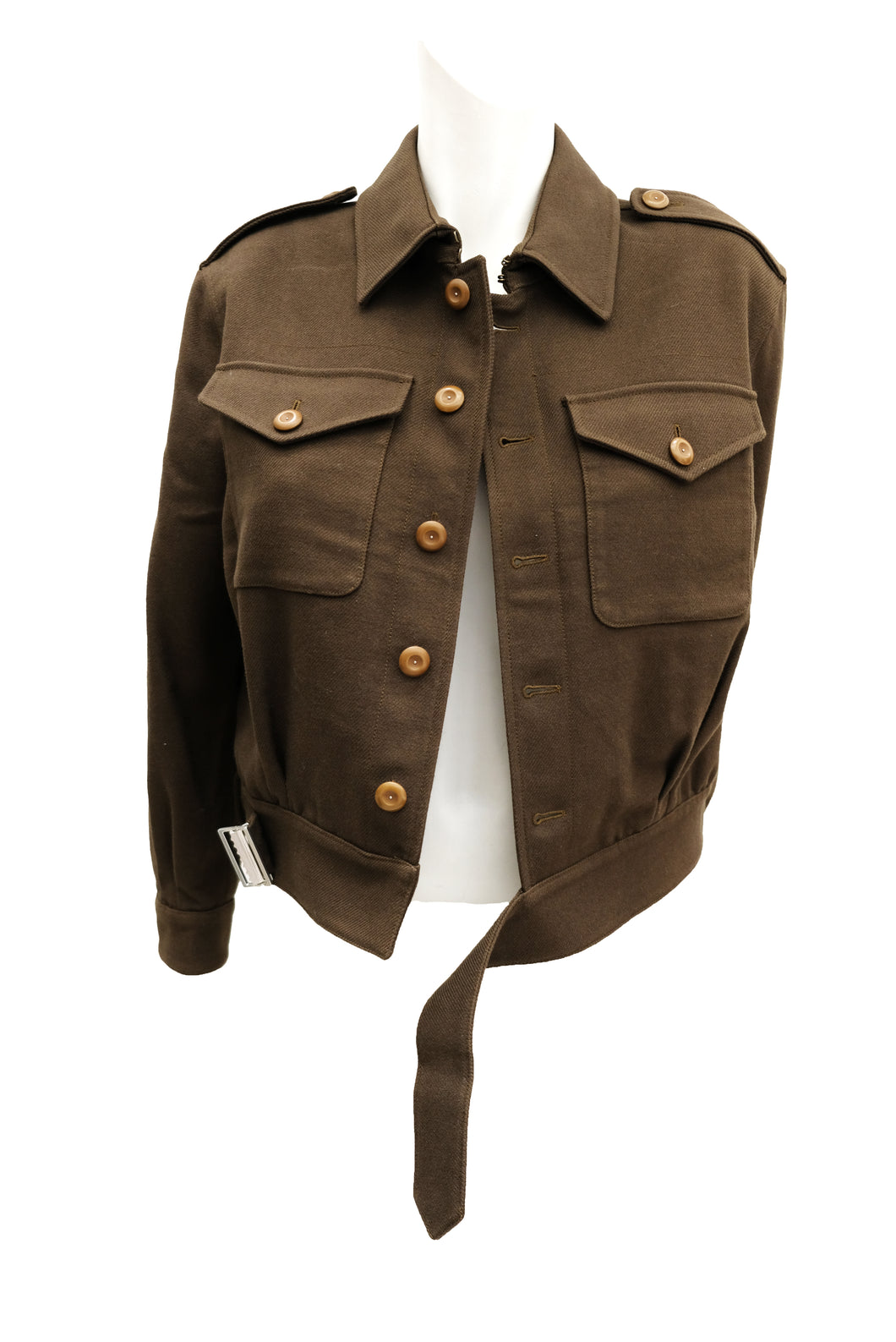 Saint Laurent Army Jacket in Khaki Drill, UK10