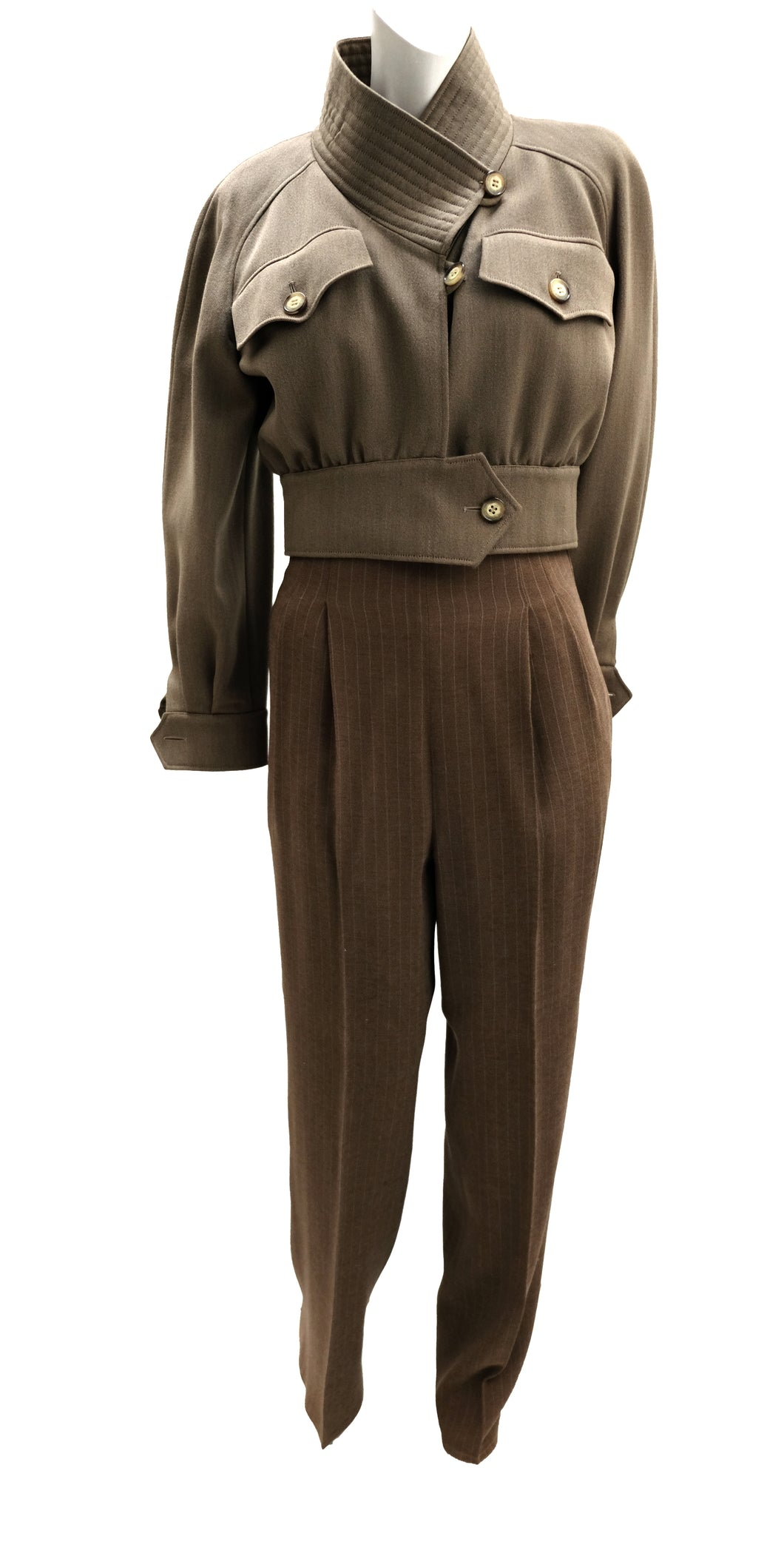 Christian Lacroix Vintage Military Trouser Suit, UK10