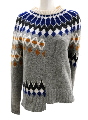 Joseph Asymmetric Fair Isle Sweater, S