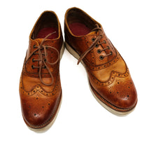 Grenson Emily Lace-up Brogues in Tan Leather, UK8