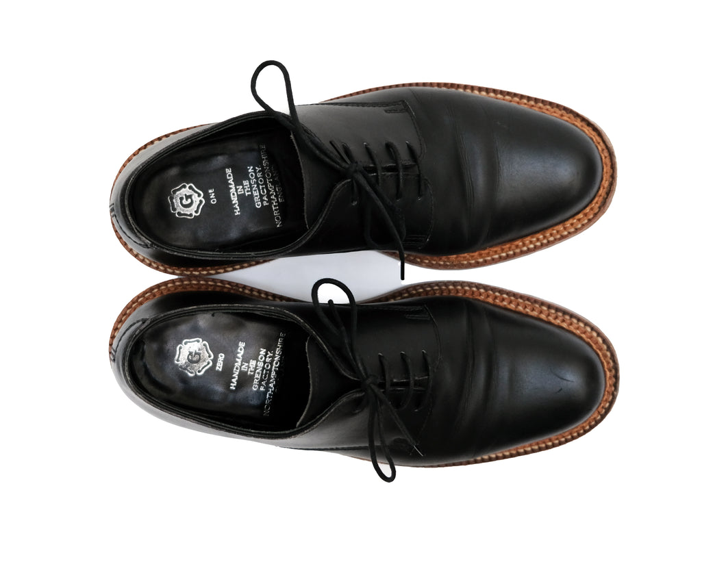 Grenson Evie Black Leather Derby Lace-ups, UK8
