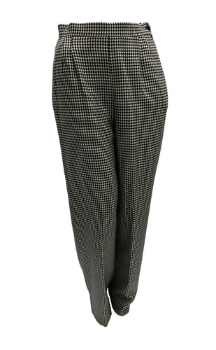 Valentino Houndstooth Wide Leg Trousers, UK12