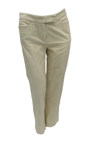 Loro Piana Cream Needlecord Trousers, UK8-10