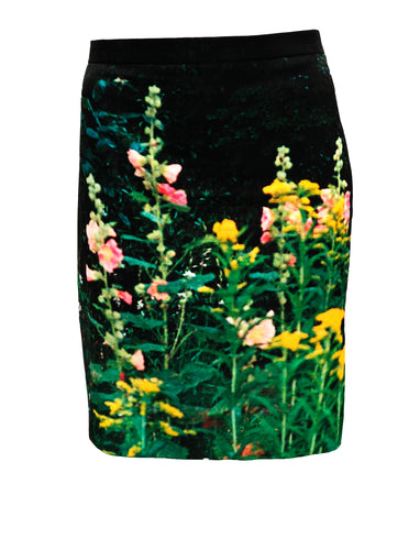 Agnes B Flower Photo Print Mini Skirt, UK14-16