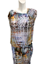 Vivienne Westwood Abstract Print Asymmetric Ruched Dress, XL