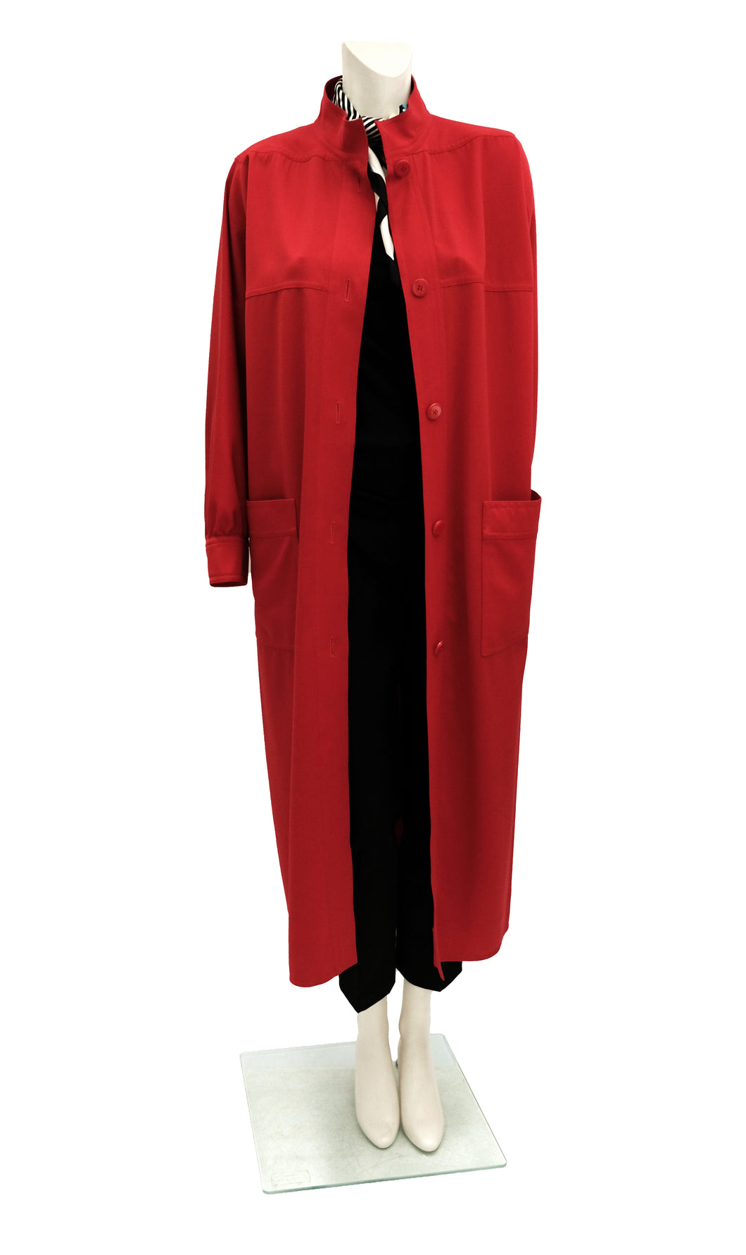 Emanuel Ungaro Vintage Coat Dress in Fire Engine Red, UK12