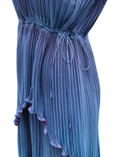 Janice Wainwright Vintage Pleated 2-piece Ensemble in Blue, UK10-12