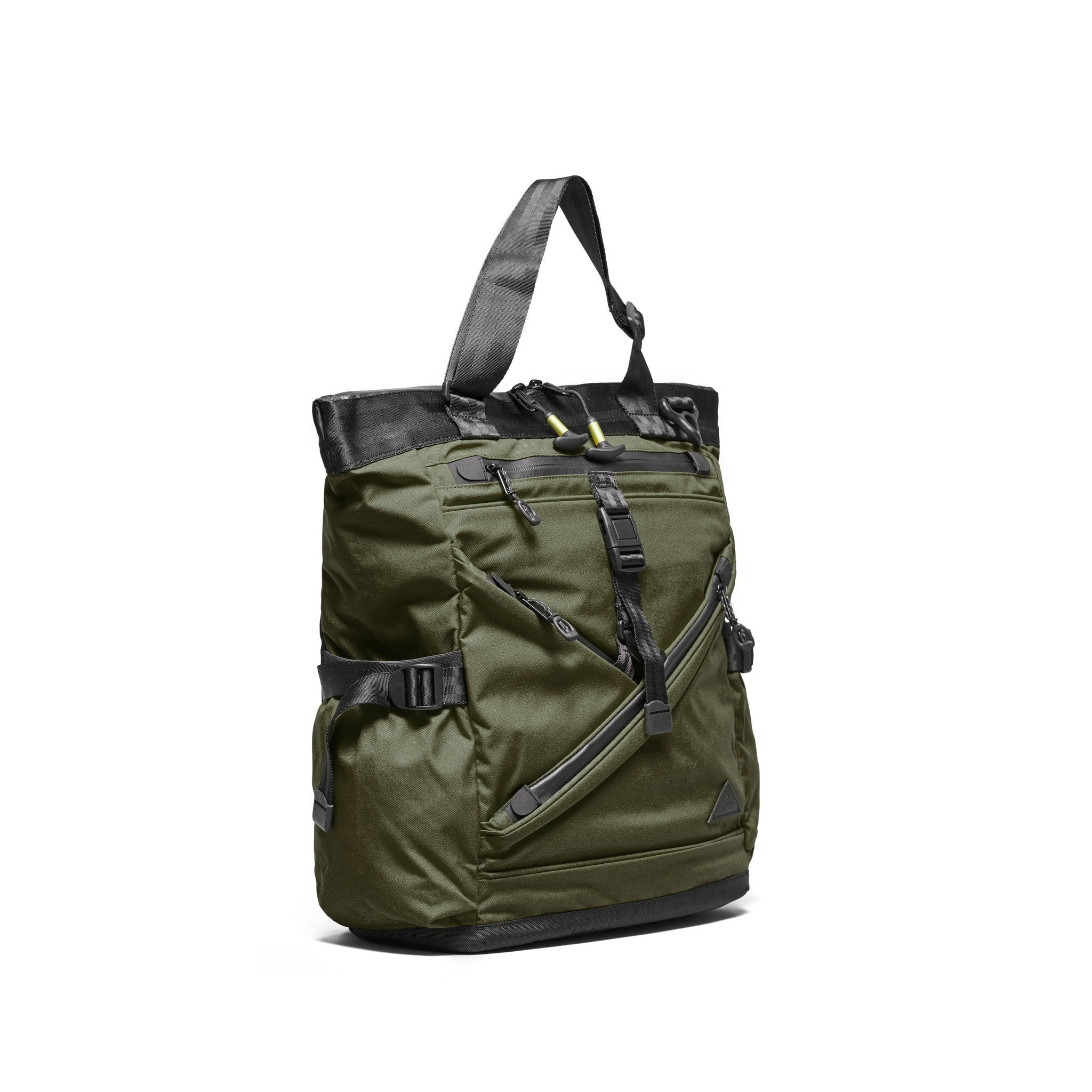 Trecknos Town Tote - Forest Green