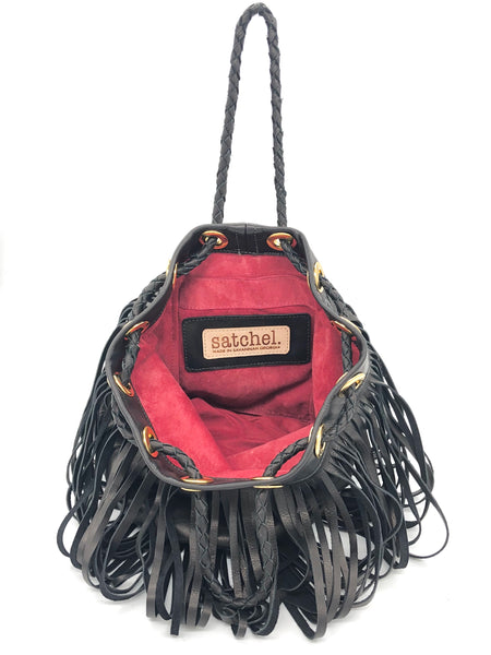 Red lining in Black bag