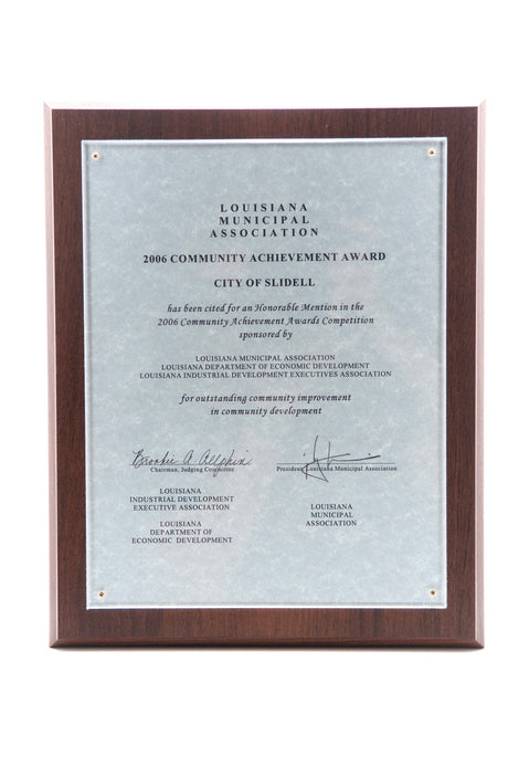 Certificate Plaque w/ Acrylic Frame