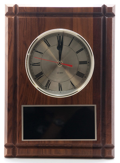 Walnut  Panel Clock