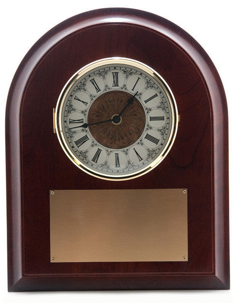 Arched Top Panel Wall Clock