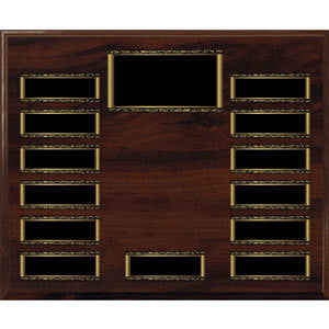 Walnut Finish Perpetual Picture Plaque