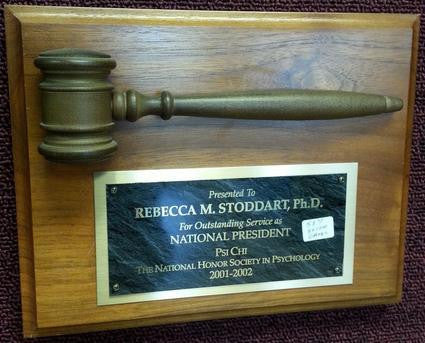 "Walnut Gavel Plaque w/ 8"" Gavel"