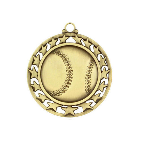 Baseball Medallion w/ Neck Ribbon