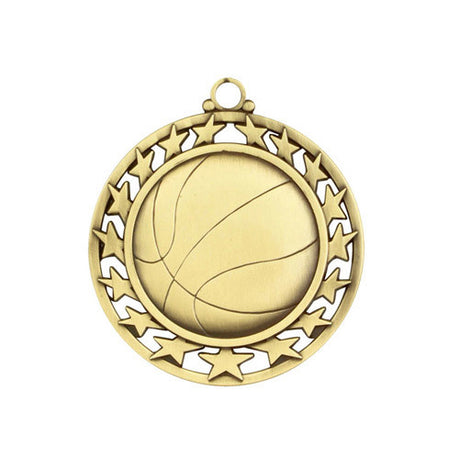 Basketball Medallion w/ Neck Ribbon