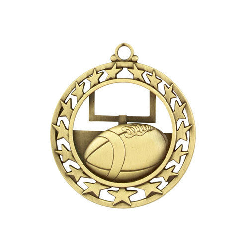 Football Medallion w/ Neck Ribbon