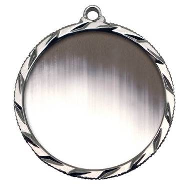 "Silver Medallion Holder  -  1.5"" x 32"""