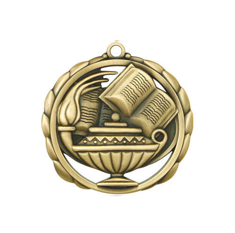 Lamp of Knowledge Medallion w/ Neck Ribbon
