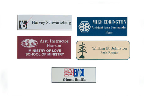 Lasered Plastic Name Tags