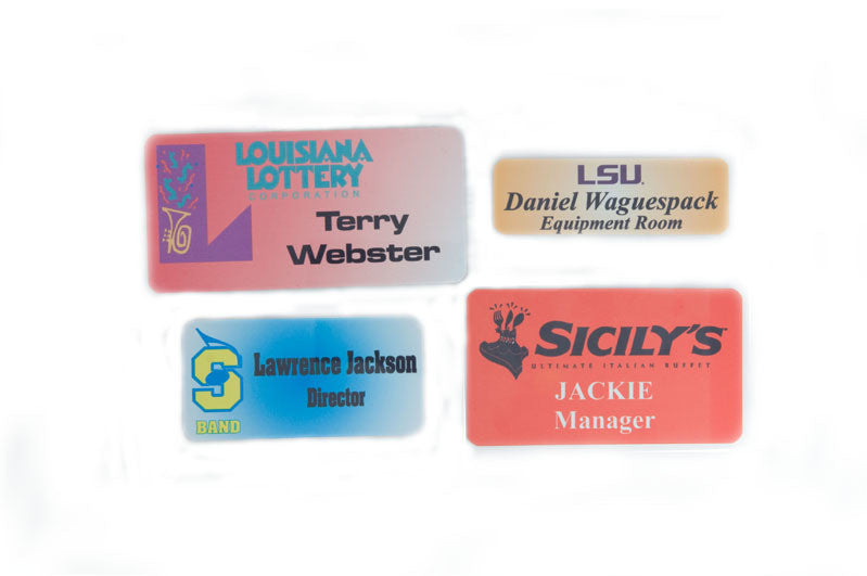 Sublimated Name Tags