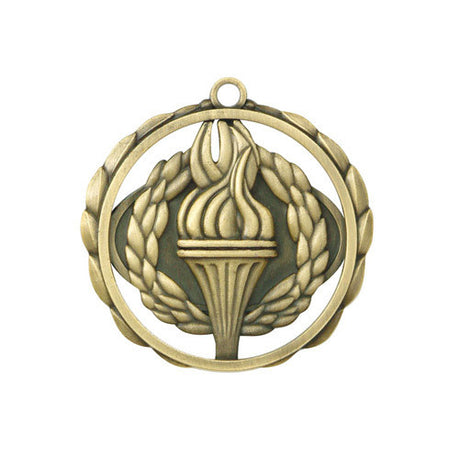 Torch Medallion w/ Neck Ribbon