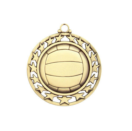 Volleyball Medallion w/ Neck Ribbon