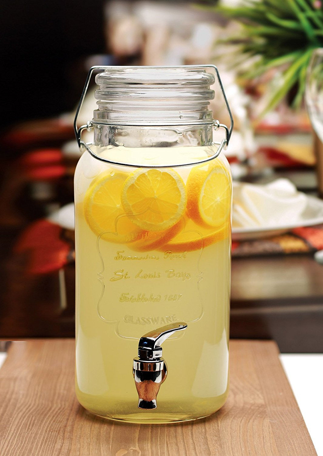 4 Litre Mason Jar Beverage Dispenser