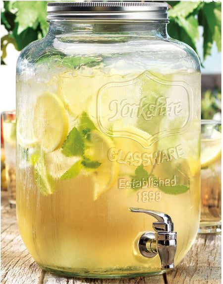 Yorkshire Mason Jar Beverage Dispenser - 8 Litre