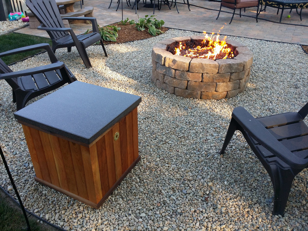 Creating your own Gas Fire Feature in your backyard is Easy with DIYGasFirePits.com/ EasyFirePits.com