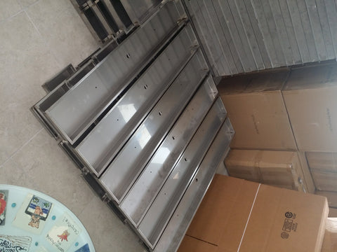 "PAN52X10: Stainless 52"" x 10"" x 2"" (inside dimensions) Drop In Insert for Linear Fire Burners, Rings, Etc..."
