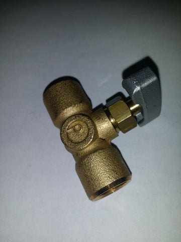 "NV14F2: MINI 1/4"" FxF GAS NEEDLE VALVE - ADJUSTABLE MULTI TURN"
