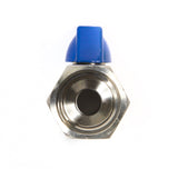 "BV12MF: BALL VALVE 316 Stainless 1/2"" Male x 1/2"" Female"