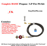 CK Universal Propane Complete BASIC DIY Fire Pit Kit - Burner Sold Separate