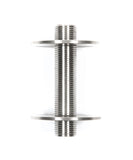 "NIP4: 4"" Nipple Fully Threaded 1/2"" Male Tube; Marine Grade 316 Stainless Steel"