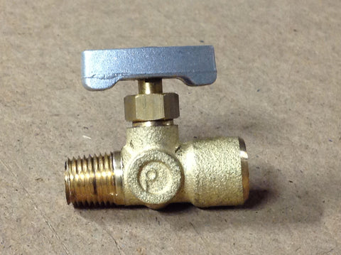 "NV14MF: MINI 1/4"" MxF NEEDLE VALVE - ADJUSTABLE MULTI TURN"