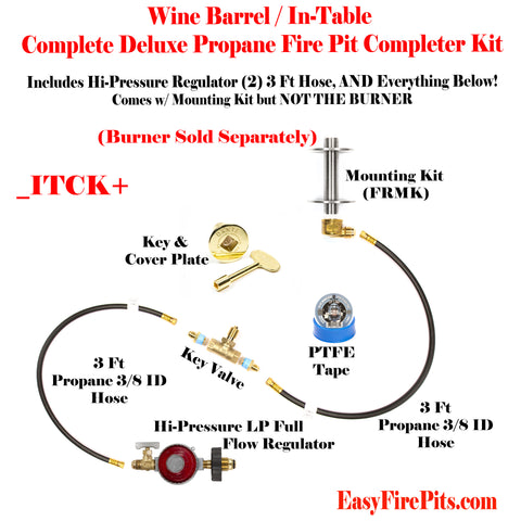 Itck Universal Deluxe Tank In Table Diy Propane Fire Pit