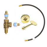 "+KVAB ANGLED BRASS KEY VALVE ""+"" or PLUS KIT"
