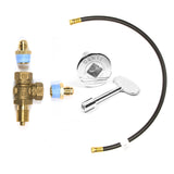 """+"" or PLUS KIT: Adds 3' Flexible Hose, Key Valve, 2 Fittings, 3"" Key and Cover Plate"