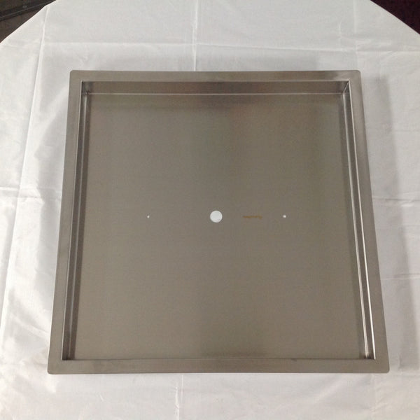 "PAN22X22: Stainless 22""x22""x2"" (Inside Dimensions) Insert for 12-18"" Fire Rings, Etc"