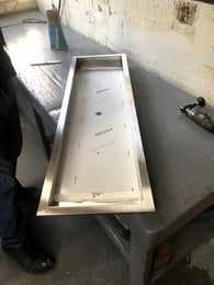 "PAN38X10-1: Stainless 38"" x 10"" x 2"" (inside dimensions) Drop In Insert for Linear Fire Burners, Rings, Etc..."