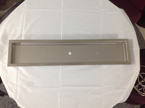"PAN38X7-1: Stainless 38""x7""x2"" (inside dimensions) Drop In Insert w/ 1"" Lip for Linear Fire Burners"