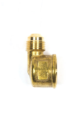PHA12F90: 3/8 Male Flare x 90 Degree 1/2 Female Pipe Fitting - PROPANE HOSE ADAPTER ENDS