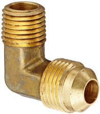 PHA14-90 3/8 Male Flare x 1/4 Male Elbow Fitting - PROPANE HOSE ADAPTER END to REGULATOR