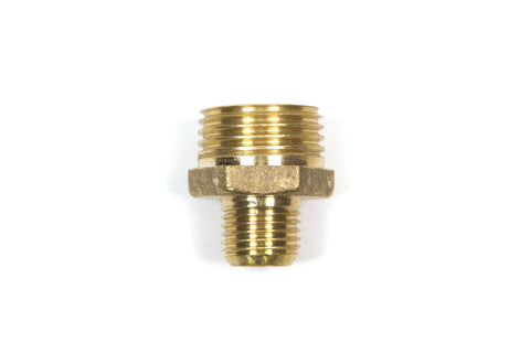 "14x12M: 1/4"" Male x 1/2 Male Brass Adapter"