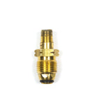 "POL14: SOFT NOSE BRASS PROPANE TANK P.O.L. X 1/4"" MALE FITTING"