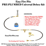 K++ Universal Pre-Plumbed Natural Gas & Propane DIY Fire Pit Kit w/ Key Control - Burner Separate
