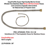 option-PRO_UPGRADE_ITCK+/K++38: Hose Exchange - Exchange Both 3' Thermoplastic Hoses for (2) 3' Stainless PRO Hoses